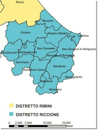 Mappa Distretto Socio-Sanitario Riccione