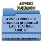AVVISO PUBBLICO PER LA SELEZIONE DI PROPOSTE PROGETTUALI PER LA REALIZZAZIONE DI LABORATORI TEATRALI PER I GENITORI DELLE ISTITUZIONI EDUCATIVE A.S. 2016-17.