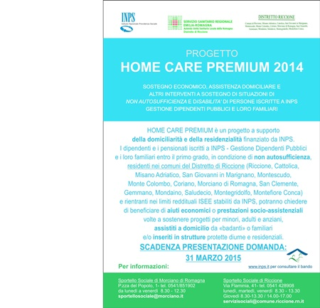 Home Care Premium - Progetti di assistenza domiciliare, prorogato al 31 marzo il termine per presentare domanda