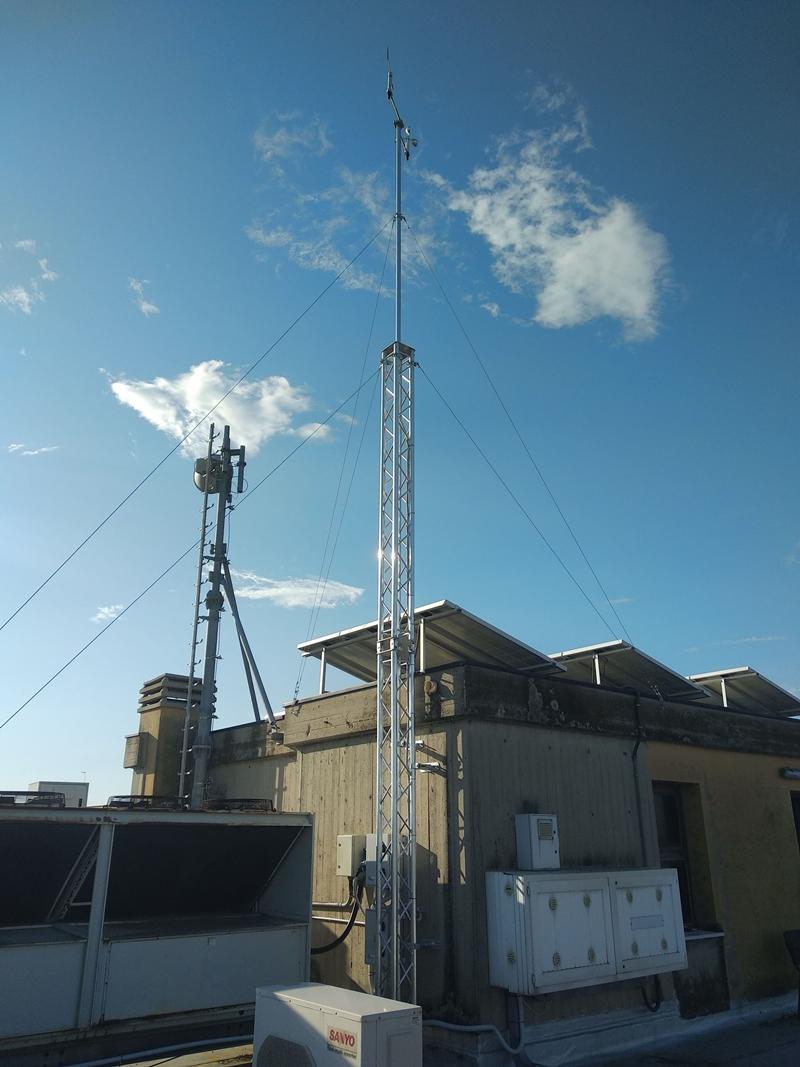 Direzione  e intensità del vento