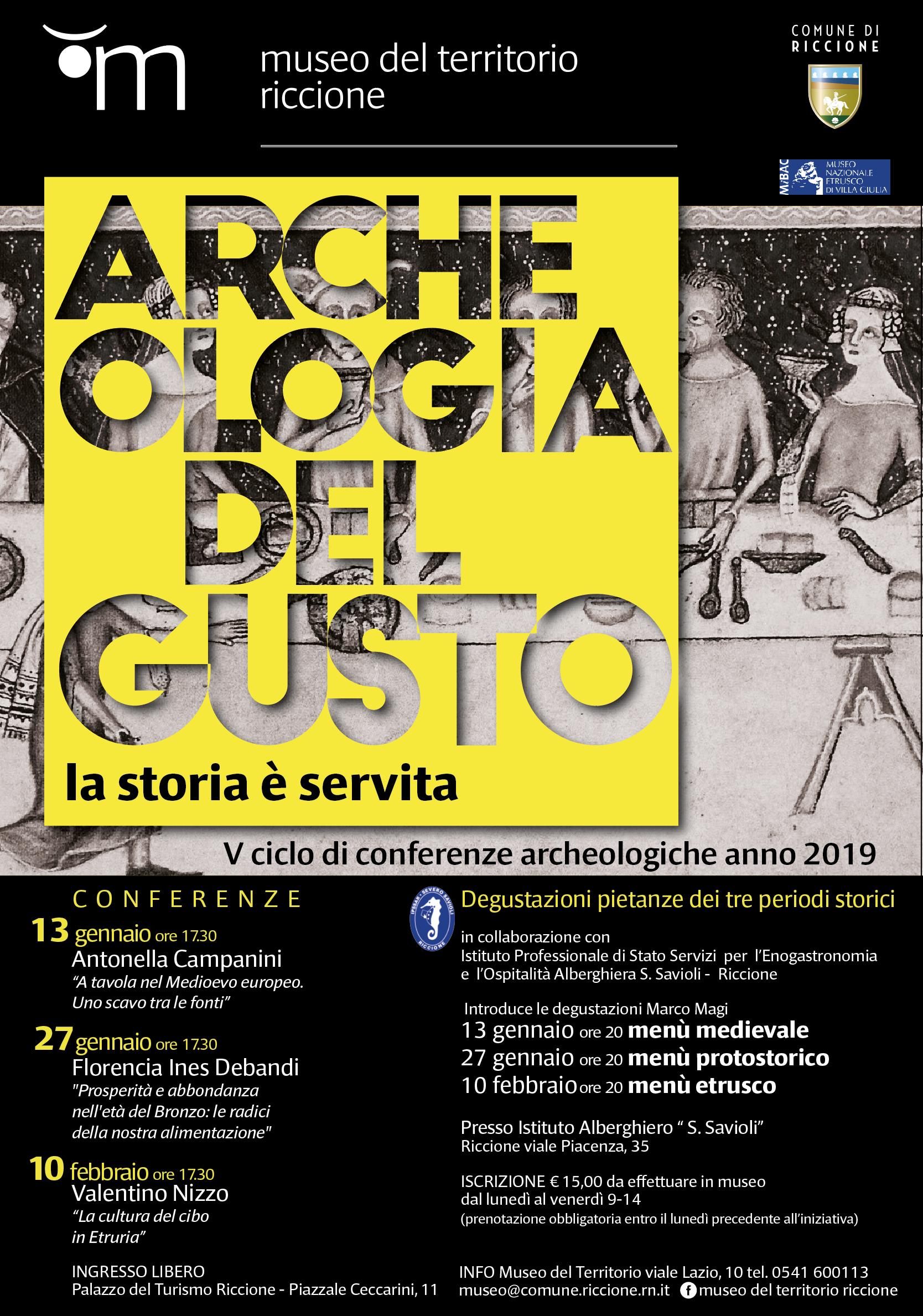 """Locandina iniziativa """"Archeologia del gusto"""""""