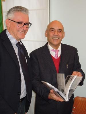 Il Sindaco Pironi con il prof. Giordano Bruno Guerri