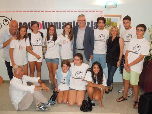i ragazzi del 2° Radiocampo Immaginario 2013