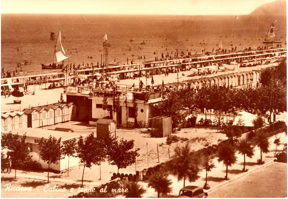 Un'immagine storica di Riccione