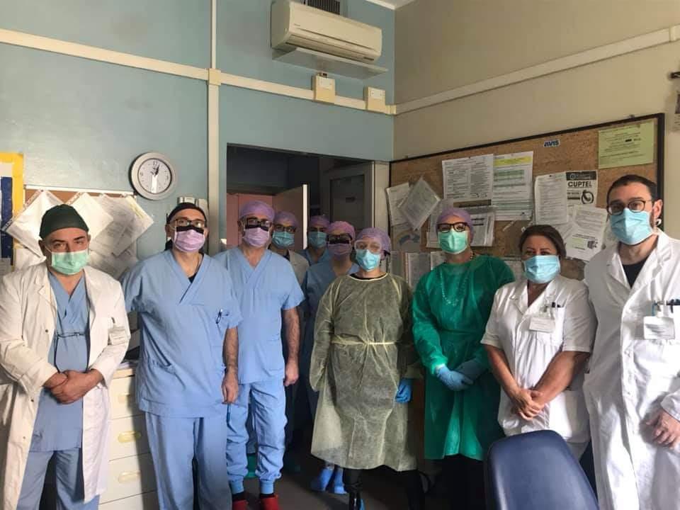 Sindaco Tosi al centro con tra gli altri la dottoressa Bianca Caruso, a destra, il dottor Lorenzo Ponziani e il dottor Andrea Lucchi