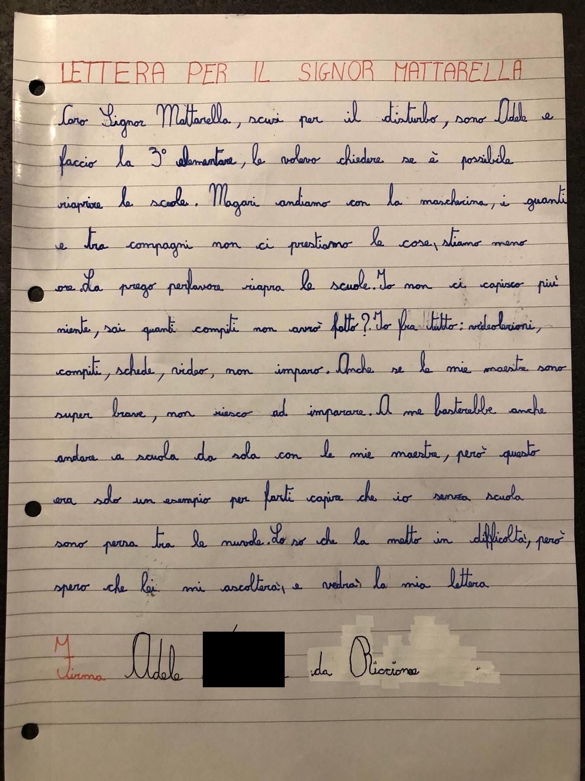 La lettera di Adele