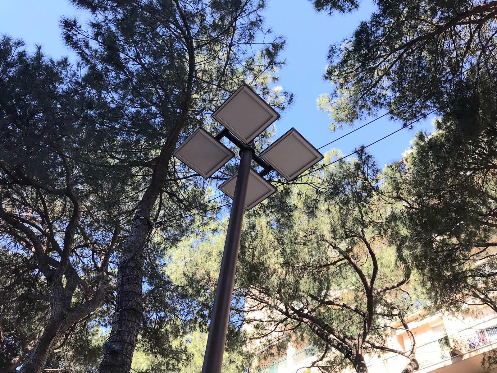 Nuovi lampioni in Viale Ceccarini