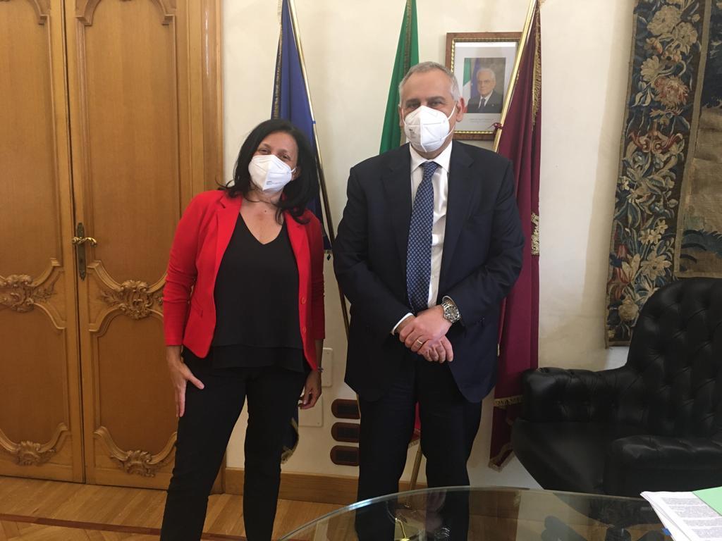 Il sindaco Tosi e il capo della polizia Giannini