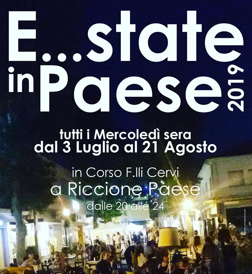 """Il 10 luglio nel borgo storico di Riccione Paese parte """" E..state in Paese"""""""