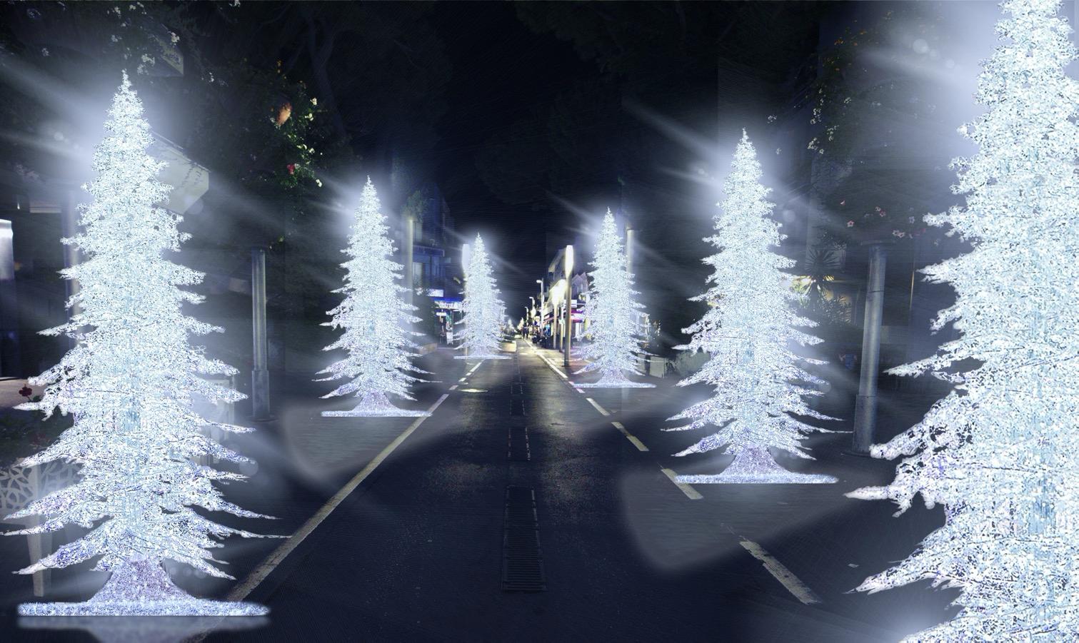 Il rendering delle luminarie 2020