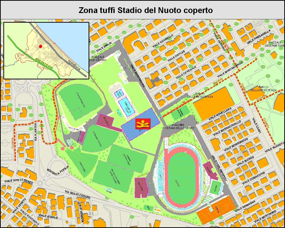 Zona Tuffi Stadio del Nuoto coperto - MAPPA