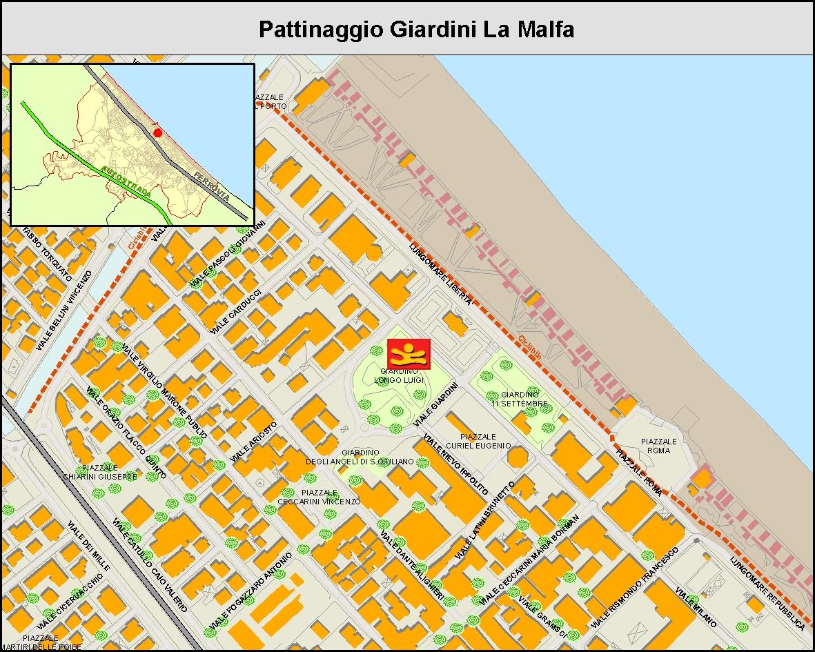 Pattinaggio giardini La Malfa - MAPPA