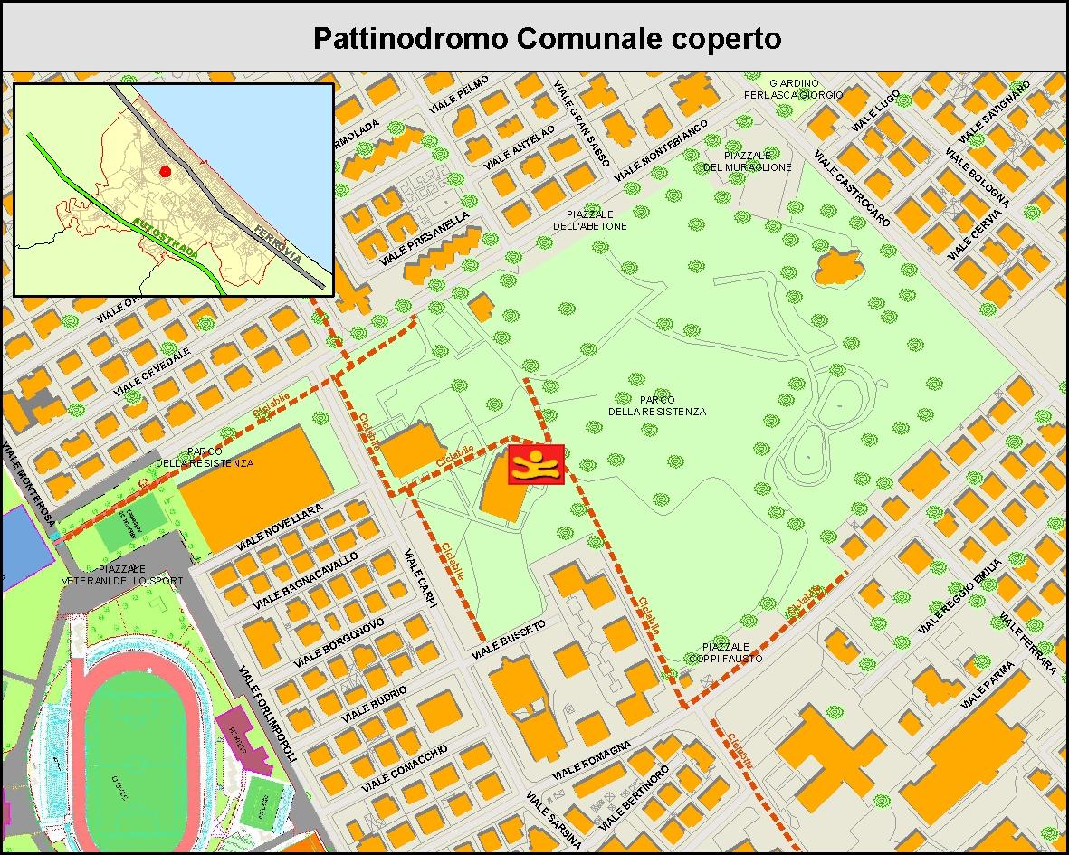 Pattinodromo comunale coperto - MAPPA