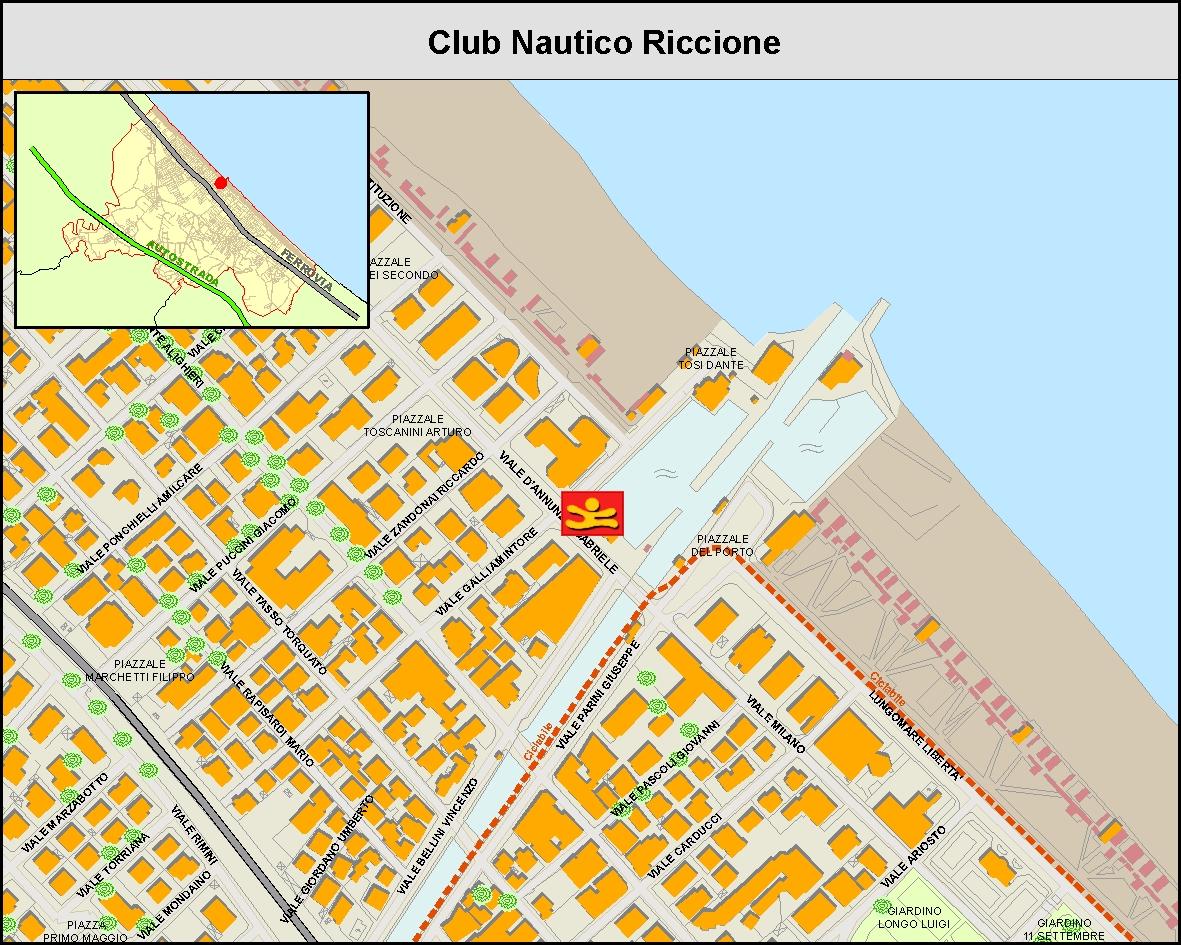 Club Nautico Riccione - Mappa