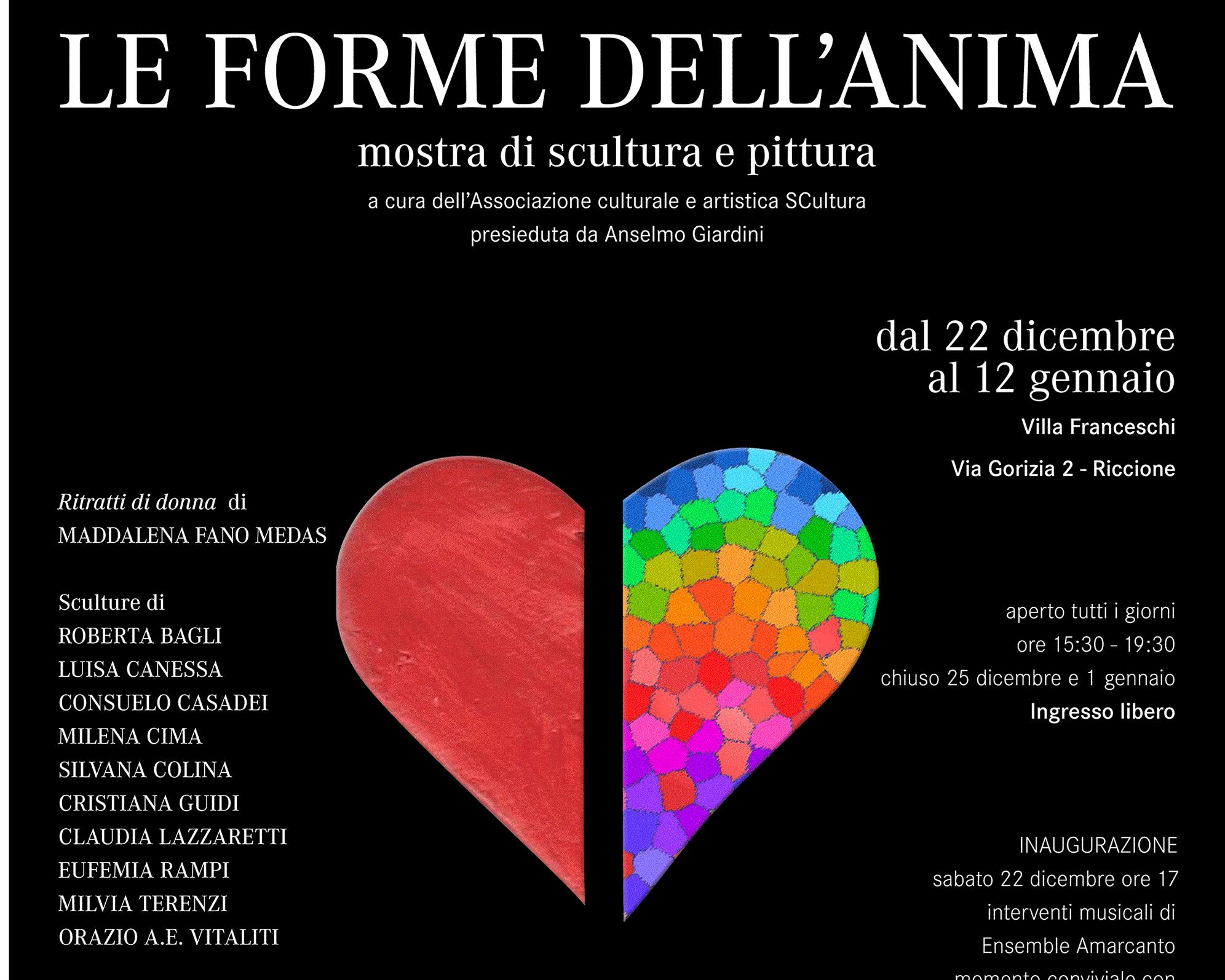 Mostra di  scultura e pittura LE FORME DELL' ANIMA a Villa Franceschi