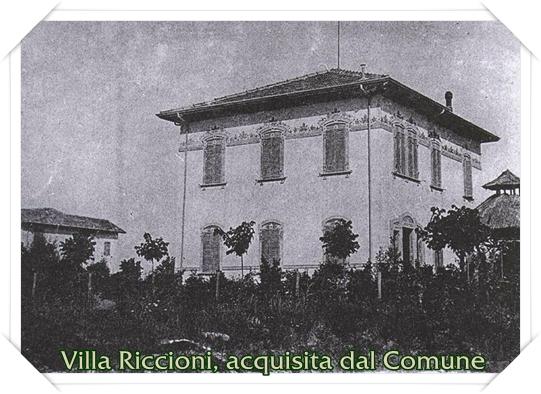 Villa Riccioni, acquisita dal Comune