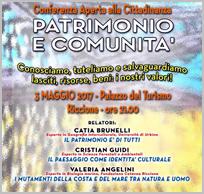 Patrimonio e Comunità - Conferenza aperta alla cittadinanza