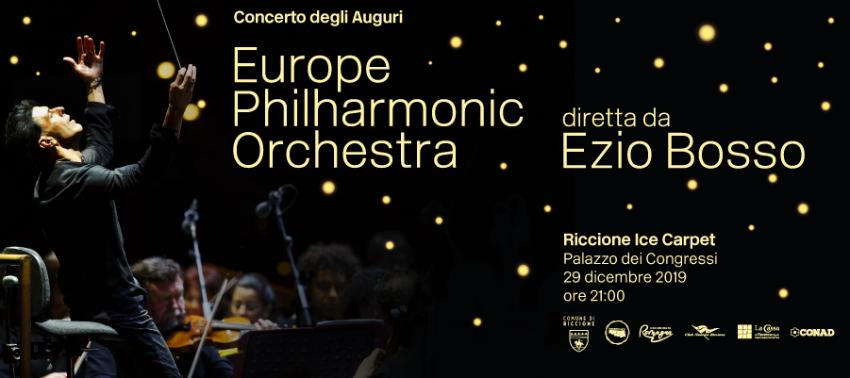 Concerto degli Auguri. Europe Philarmonic Orchestra diretta da Ezio Bosso e prove aperte al pubblico