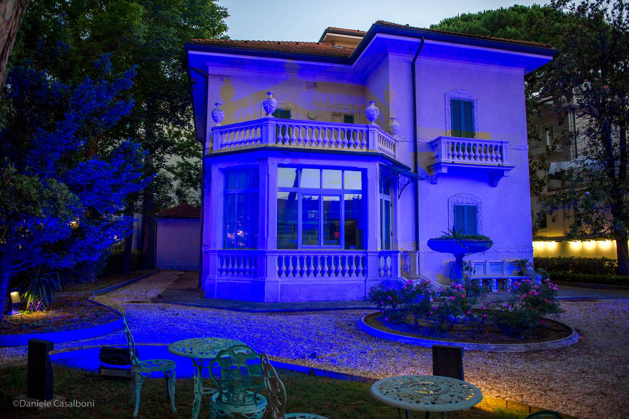 Villa Franceschi illuminata