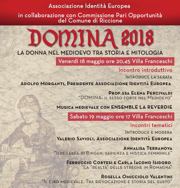 Domina. Il 18 e 19 maggio Villa Franceschi ospita la rassegna dedicata al ruolo della donna nel Medioevo
