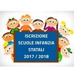 Iscrizioni Scuole Infanzia Statali As. 2018-19 e Servizio Mensa