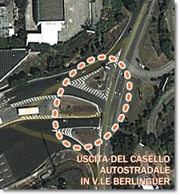 Immagine di google heart con indicazioni di massima su area rotatoria (non precise)