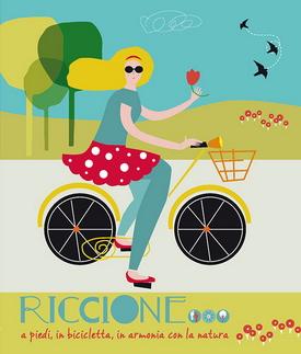 Logo : Riccione a piedi in bicicletta in armonia con la natura