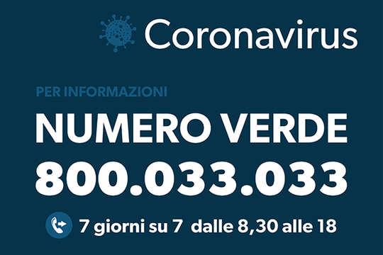"""Banner con dicitura """"Coronavirus Domande e Risposte"""" #covid19"""