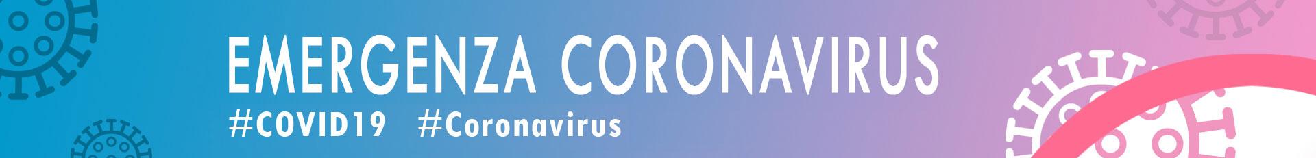 "Banner con dicitura ""Emergenza Coronavirus"""